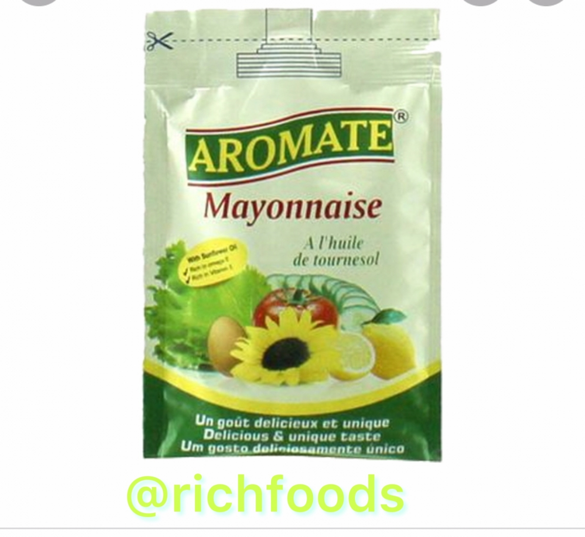 Sachets mayonnaise, wholesale and retail.